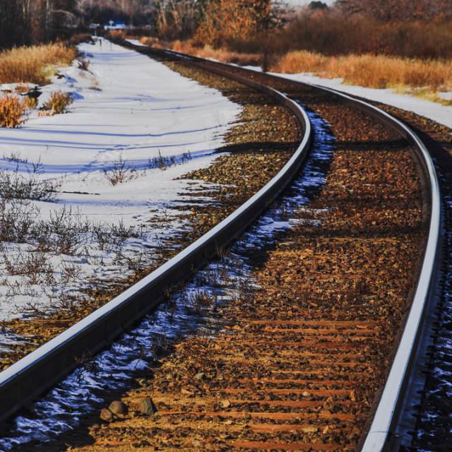 """Autumn Railway Tracks"" stock image"