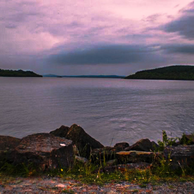 """Scotland Sunset At The Lake"" stock image"