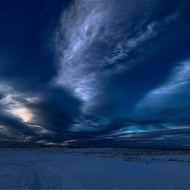 """Blue Mystical Eagle Sky"" stock image"