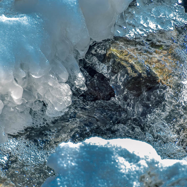 """""""Beautiful Blue Ice In Mother Nature"""" stock image"""