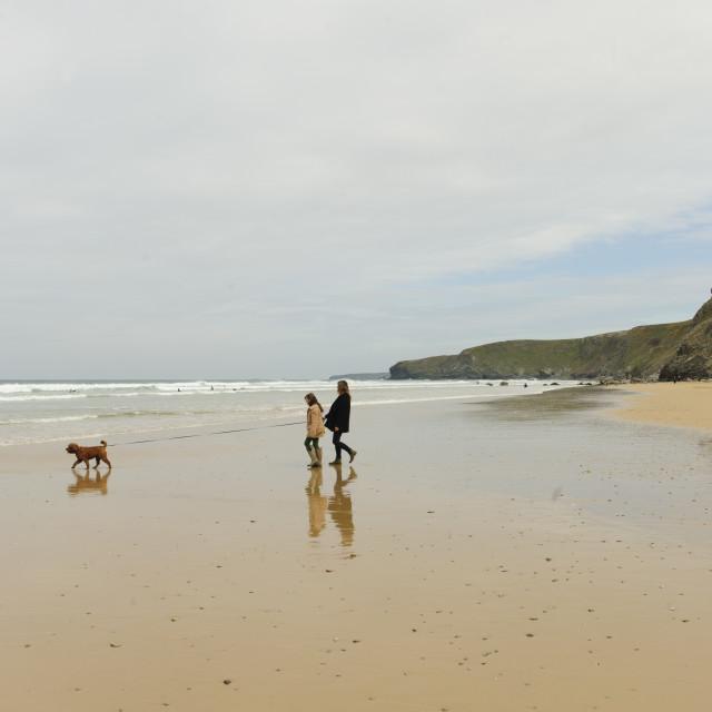 """Watergate Bay, Cornwall"" stock image"