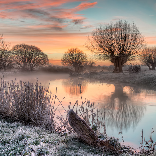 """""""Dawn on the River Stour"""" stock image"""