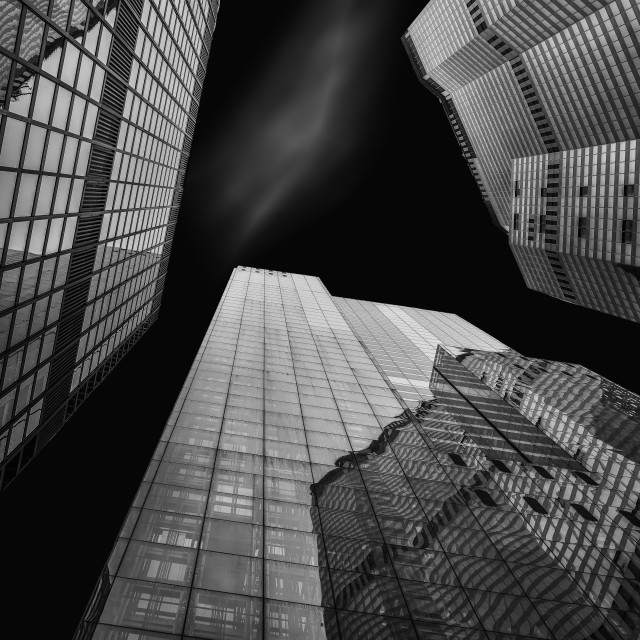 """""""Looking Up in the City of London"""" stock image"""