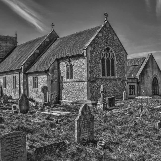 """St Mary The Virgin Church - Abbots Ann, Hampshire, England"" stock image"