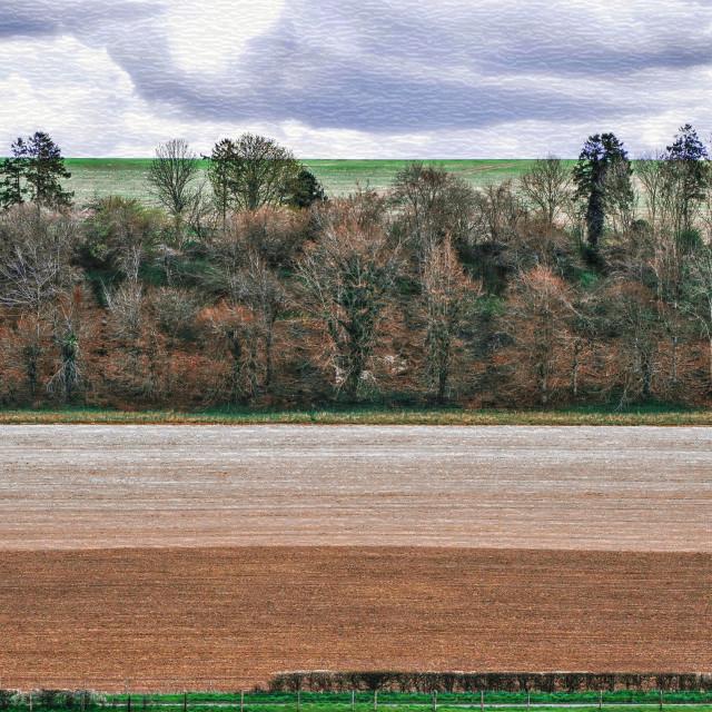 """Farmers Field Patterns"" stock image"