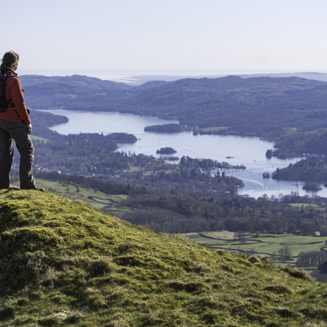 """""""Looking down on Windermere"""" stock image"""