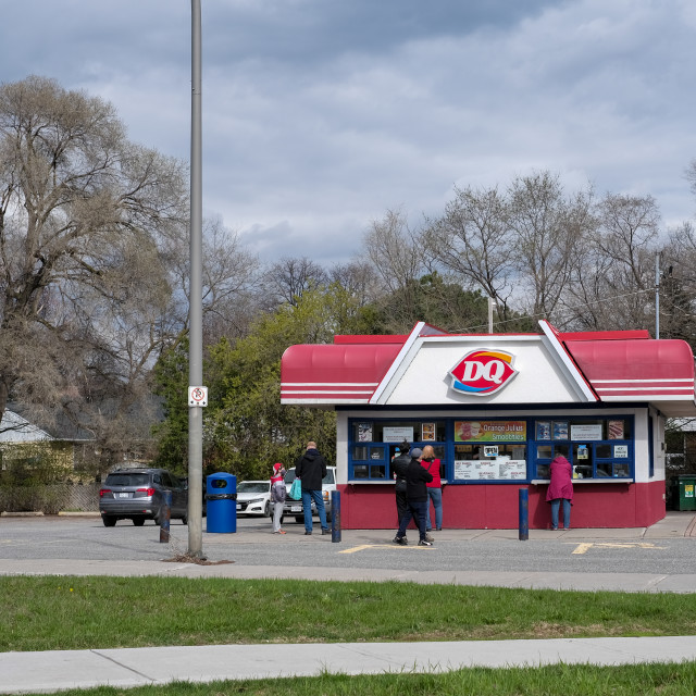 """""""Outdoor walk-up Dairy Queen counter in Ottawa, Canada"""" stock image"""