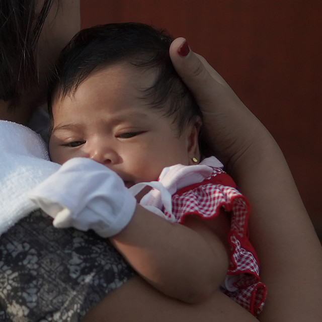 """""""Mother and child, Philippines."""" stock image"""