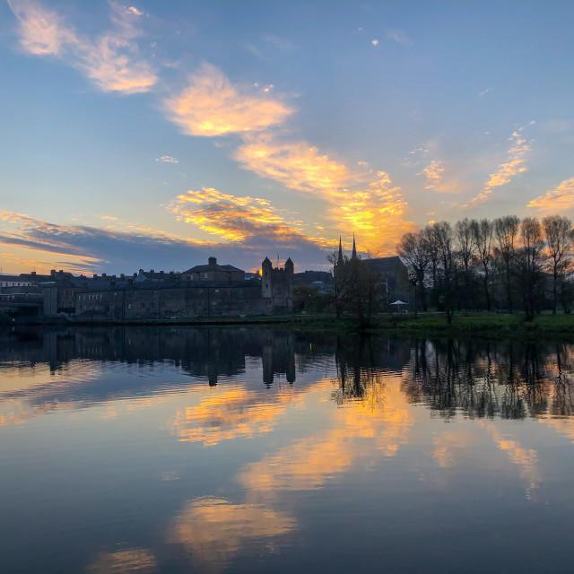 """""""Reflection of the sunrise"""" stock image"""