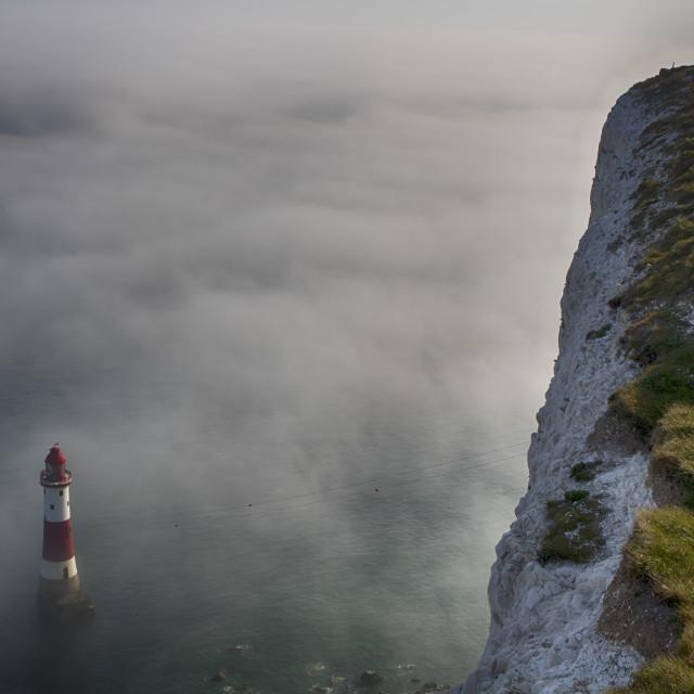 """Sea Mist at Beachy Head, Eastbourne"" stock image"