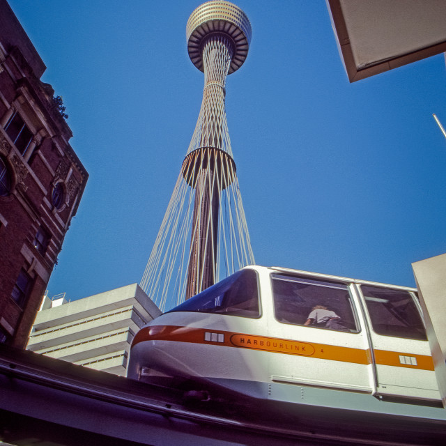 """""""Sydney Centrepoint Tower with Monorail"""" stock image"""