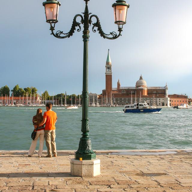"""Venice, City of Love"" stock image"