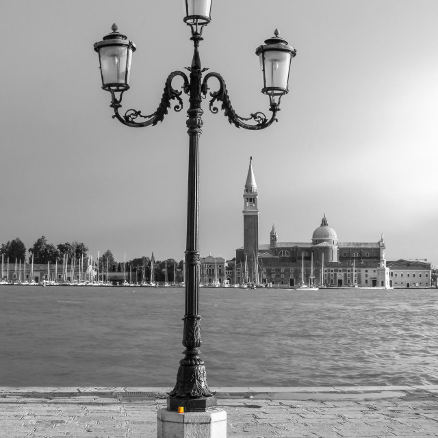 """Venice, Kodak Film Box, B and W"" stock image"