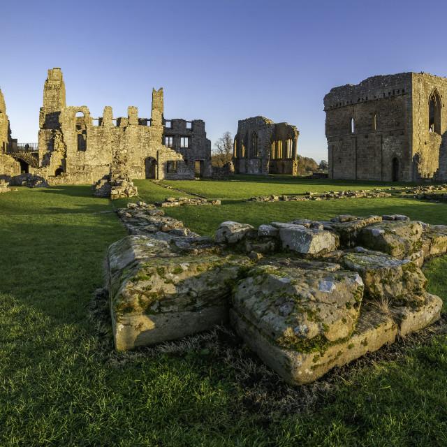 """Egglestone Abbey, near Barnard Castle"" stock image"