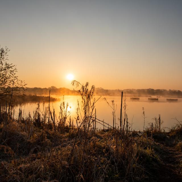 """""""Staveley Sunrise"""" stock image"""