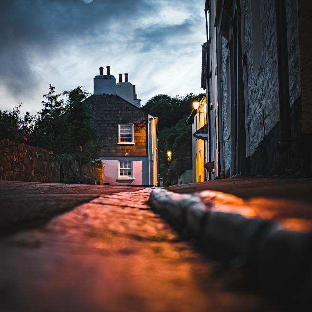 """Ground level from Armada Road, Cawsand, Cornwall UK."" stock image"