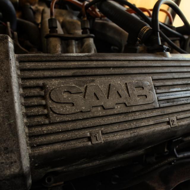 """""""SAAB Engine"""" stock image"""