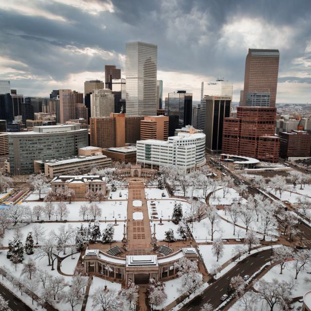 """Denver Aerial 1"" stock image"