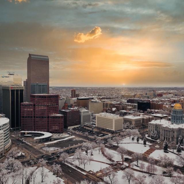 """Denver Aerial 2"" stock image"