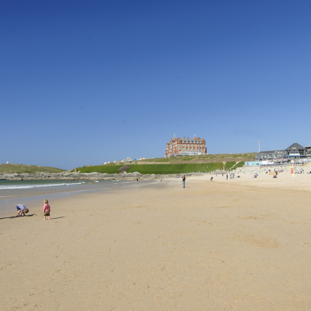 """""""Fistral Beach, Newquay, Cornwall"""" stock image"""