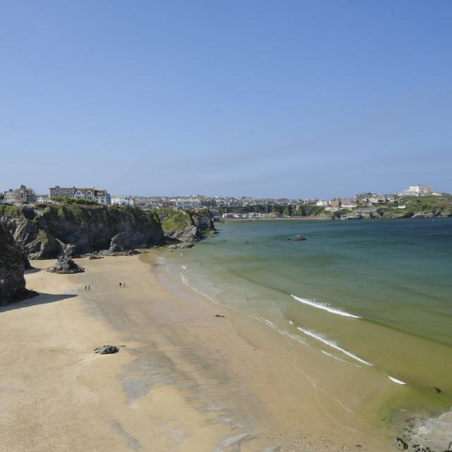 """Great Western Beach, Newquay, Cornwall"" stock image"