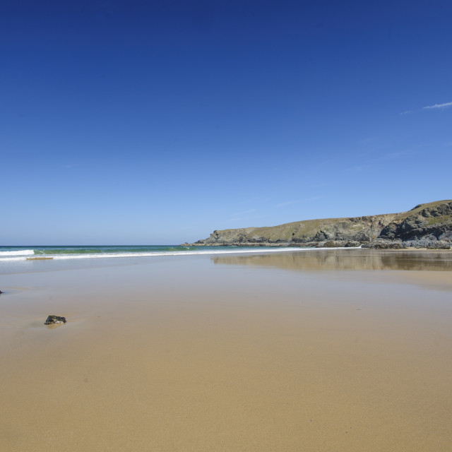 """Pentire Steps Beach, Cornwall"" stock image"