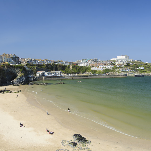 """Towan Beach, Newquay, Cornwall"" stock image"