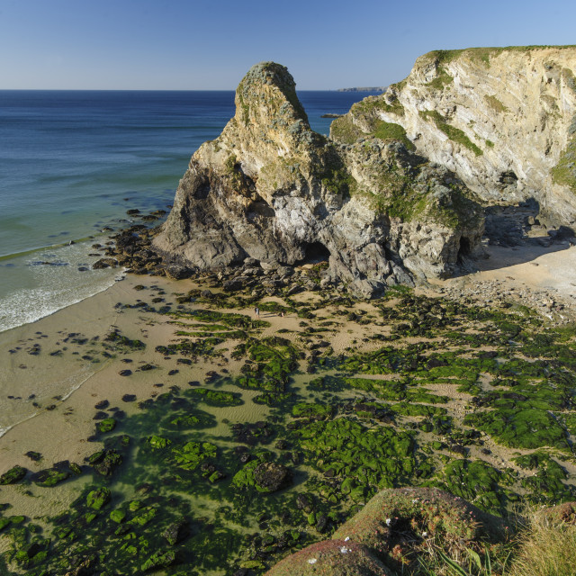 """""""Whipsiderry Beach, Newquay, Cornwall"""" stock image"""