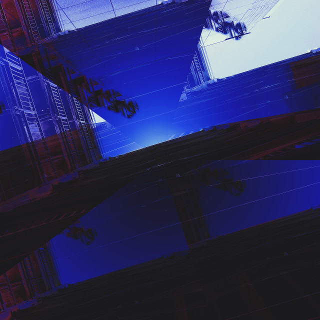 """Geometrie in blu"" stock image"