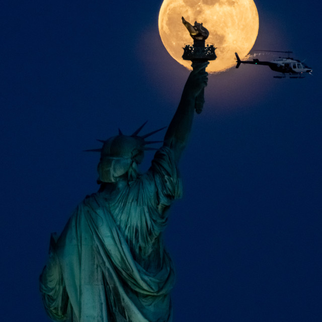 """""""Super Pink Moon 2021"""" stock image"""