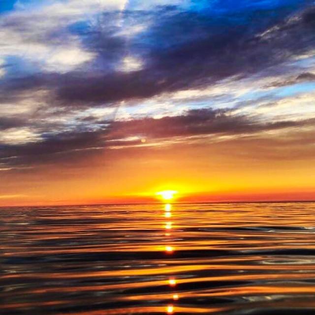 """Lake Michigan Sunset"" stock image"