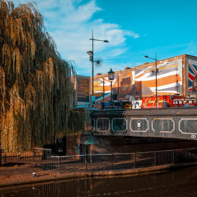 """""""Bridge over Regent's Canal, Camden Town"""" stock image"""