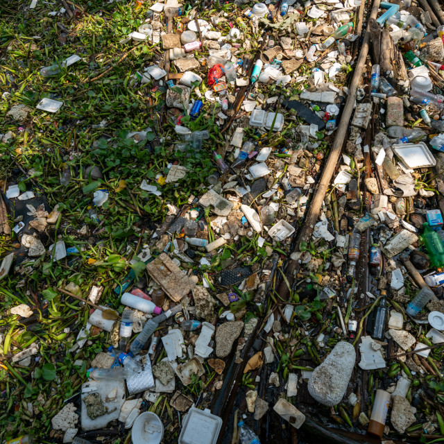 """""""River surface pollution 1"""" stock image"""