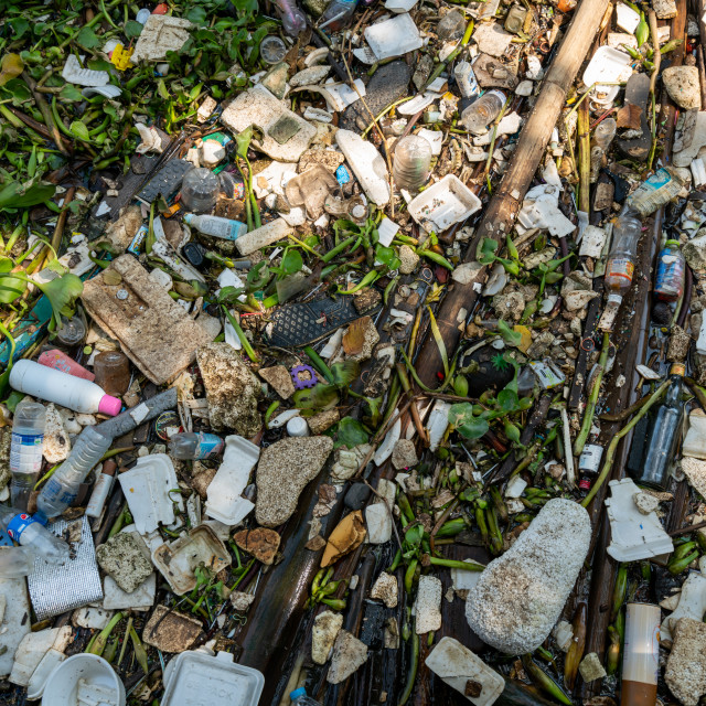 """""""River surface pollution 2"""" stock image"""