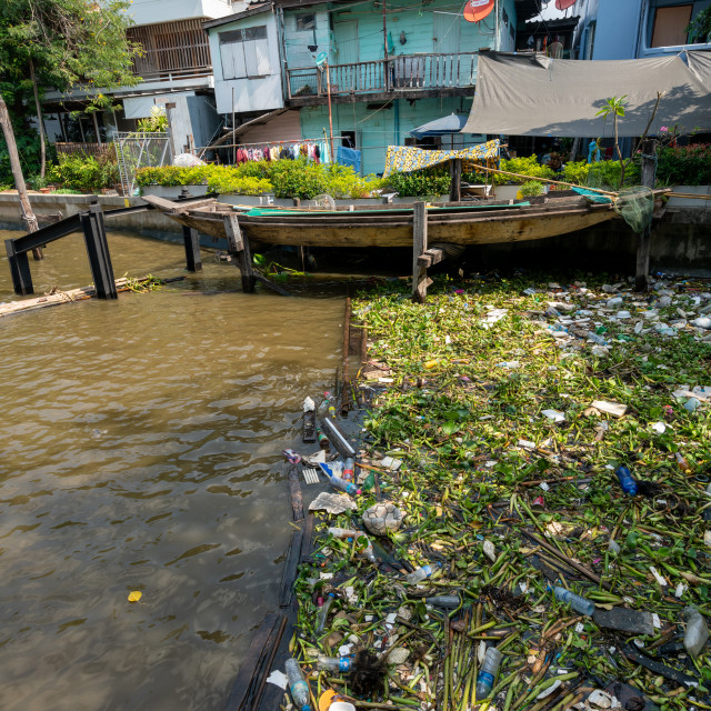 """""""River surface pollution 3"""" stock image"""