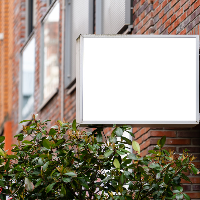 """""""Rectangle square store signboard mockup"""" stock image"""