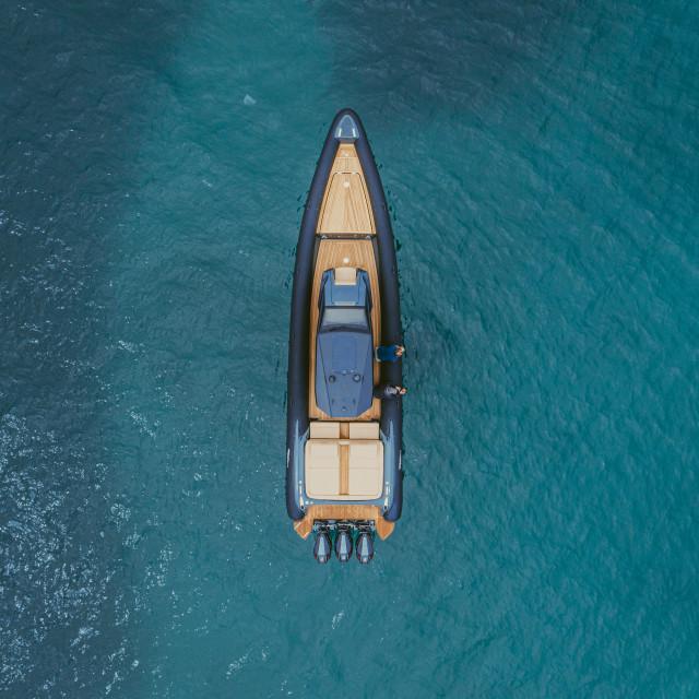 """Boat at the sea"" stock image"