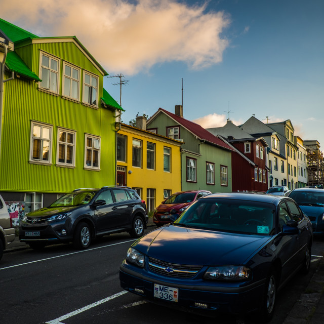 """""""Iceland town houses"""" stock image"""