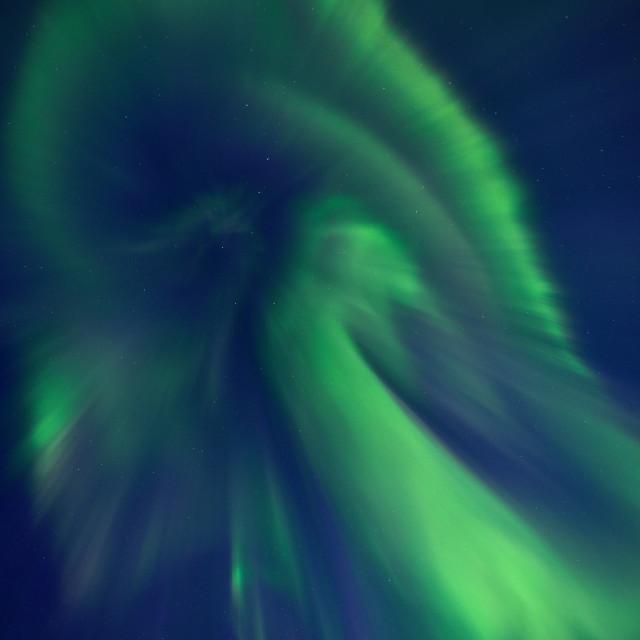 """Aurora Borealis in the sky"" stock image"