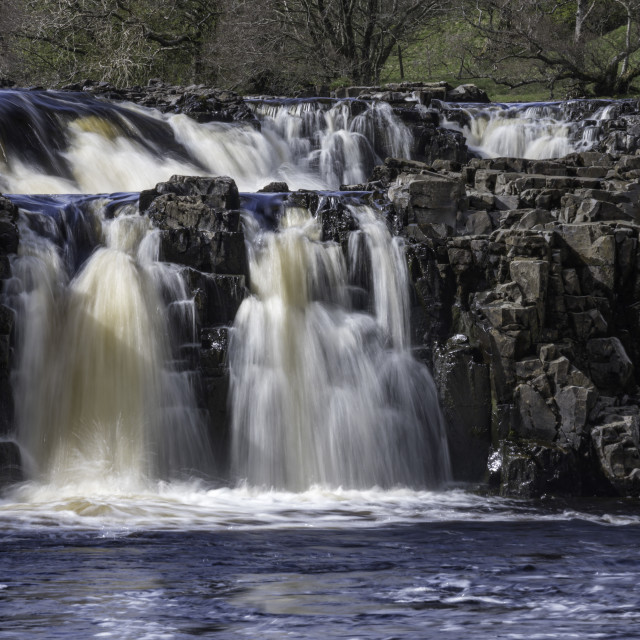 """""""Low Force waterfall Teesdale"""" stock image"""