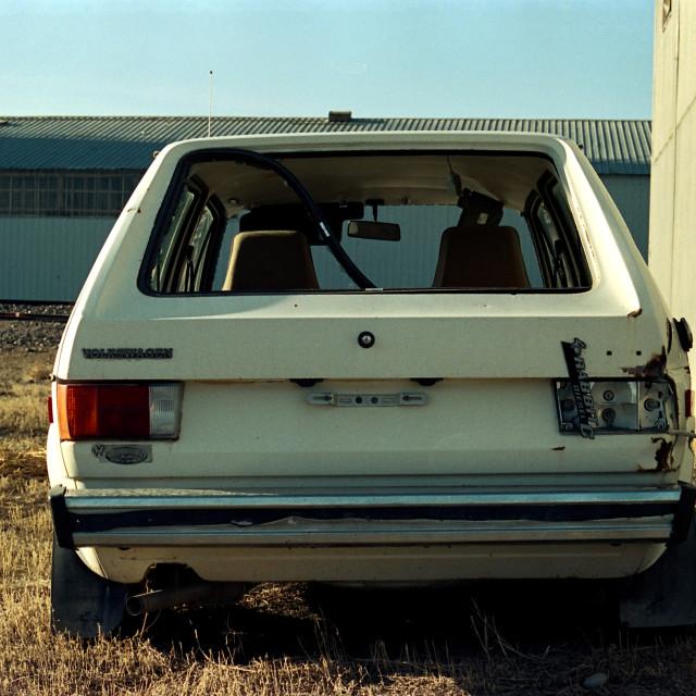 """Abandoned coupe"" stock image"