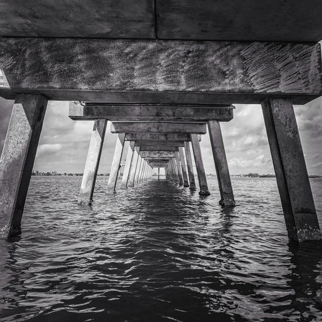 """Fishing Pier"" stock image"