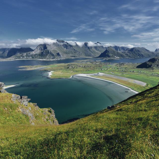 """""""View in Lofoten"""" stock image"""