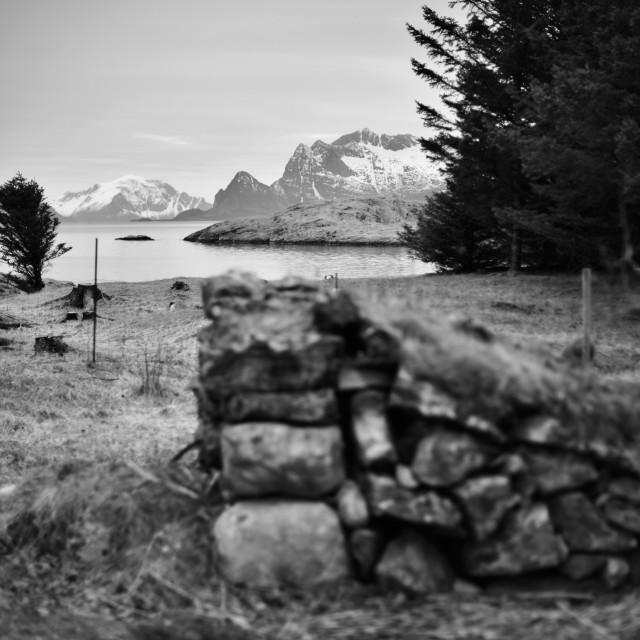 """Stones on island"" stock image"