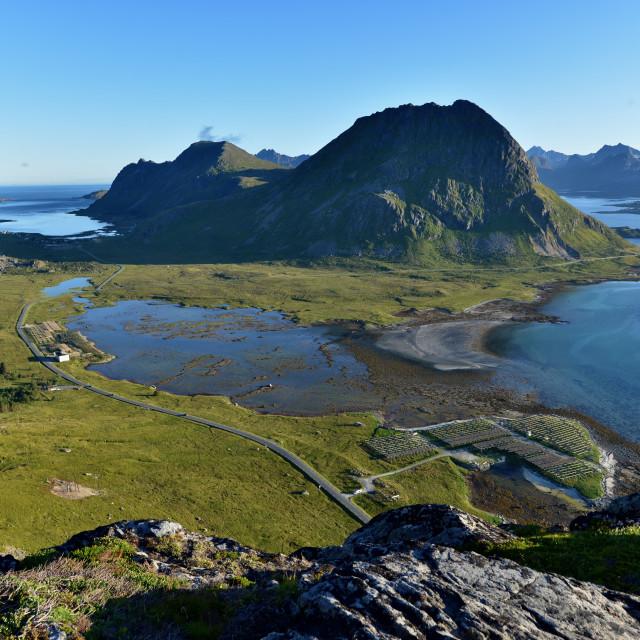 """Lofoten island landscape"" stock image"