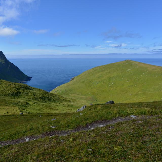 """Lofoten coast landscape"" stock image"