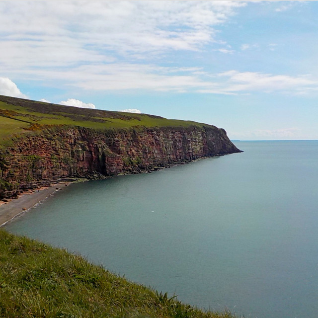 """""""St Bees Head"""" stock image"""