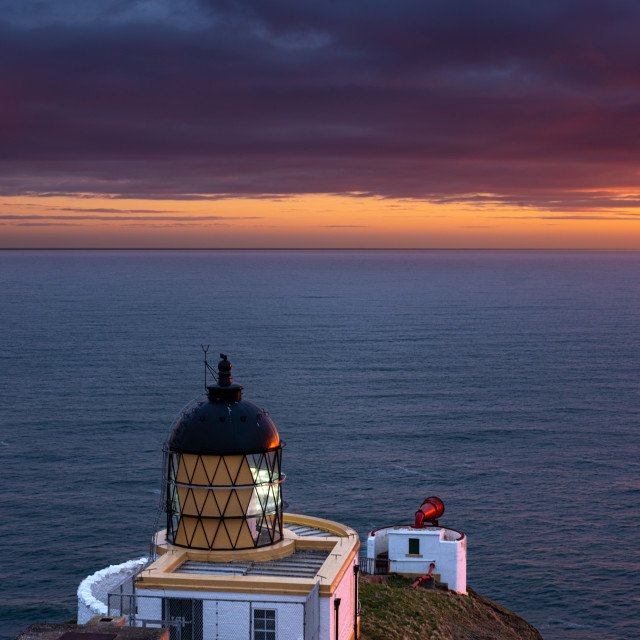 """""""St Abbs Lighthouse"""" stock image"""