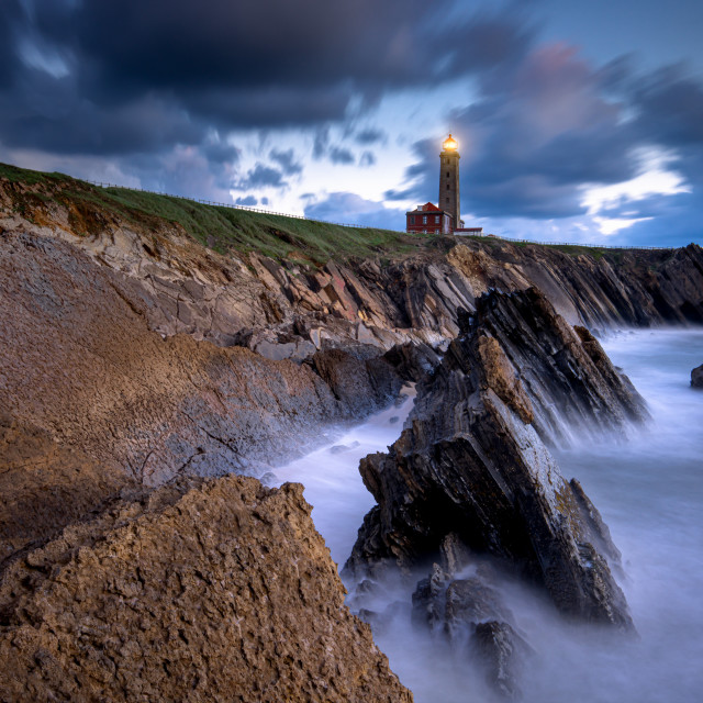 """""""Love yourself and don't give up on happiness. Let the lighthouse guide your way."""" stock image"""
