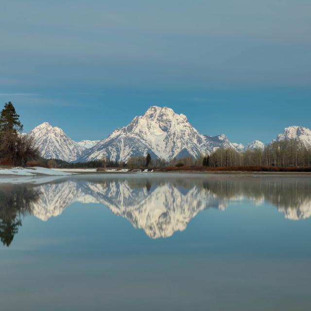 """travel-oxbow bend-grand teton national park-chuck taylor"" stock image"